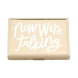 ✨NWT✨Kate Spade Gold Text ID/Business Card Holder